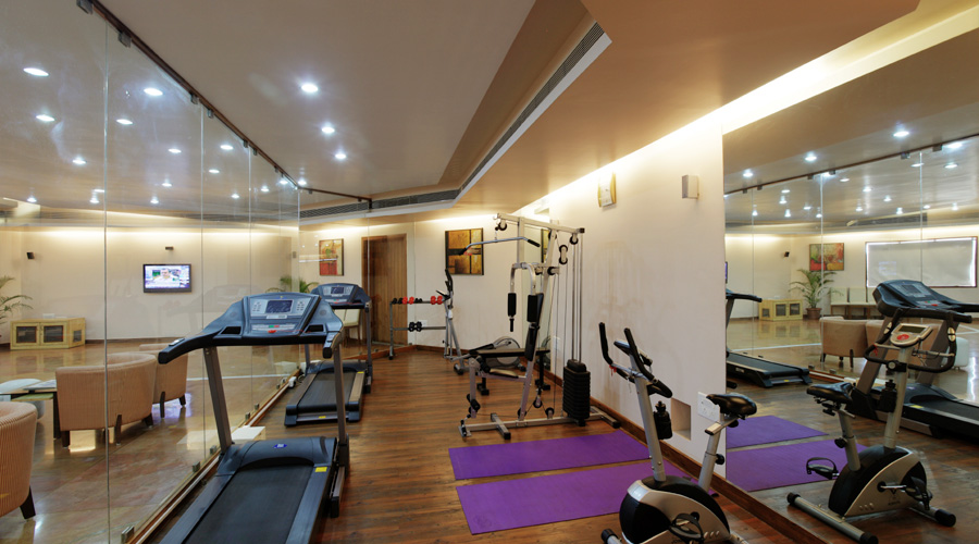 Gymnasium is well equipped with the latest technology in exercising equipments